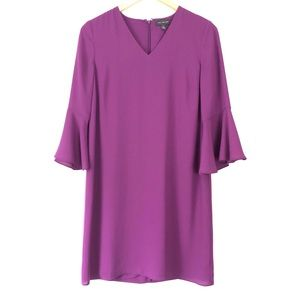 NWOT The Limited Purple Bell Sleeve Shift Dress